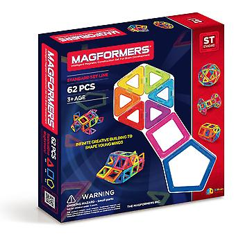 Magformers 62 PCS Set Magnetic Construction and Building Toy