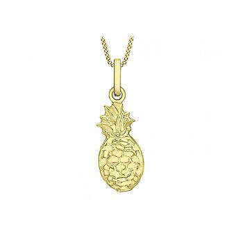 Eternity 9ct Gold Pineapple Pendant And 16'' Chain