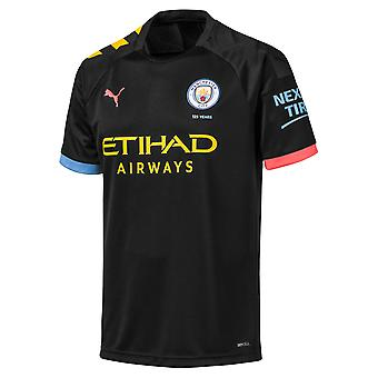 Puma Manchester City 2019/20 Hommes Short Sleeve Away Maillot de football Noir