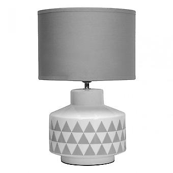 Premier Home Wylie Table Lamp, Ceramic, Linen, White