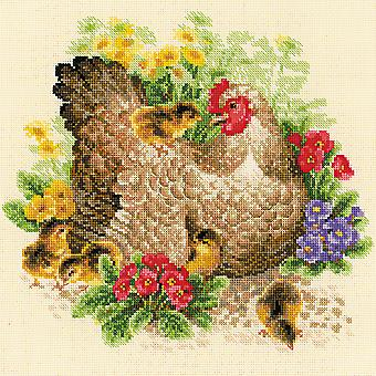 Hen Counted Cross Stitch Kit-11.75