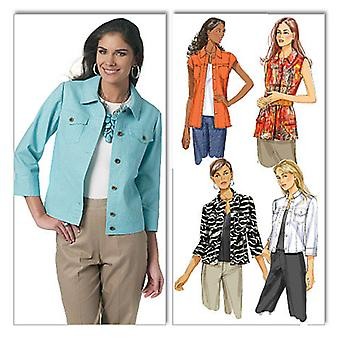 Misses' Jacket  Aa 6  8  10  12 Pattern B5616  Aa0