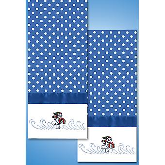 Stamped Kitchen Towels For Embroidery Frosty T212960