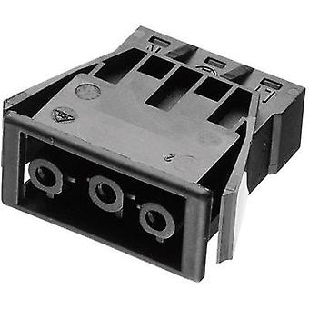 Mains connector ATT.LOV.SERIES_POWERCONNECTORS AC Socket, vertical vertical Total number of pins: 2 + PE 16 A Black Ade