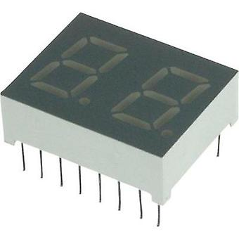 Seven-segment display Red 10.2 mm 2 V No. of digits: 2