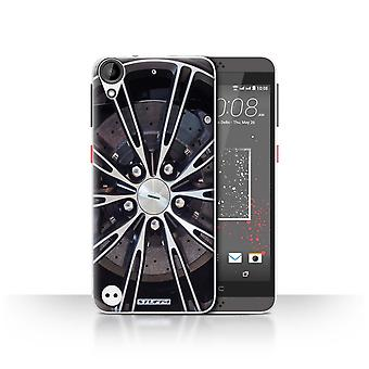 STUFF4 Case/Cover for HTC Desire 630/Silver/Alloy Wheels
