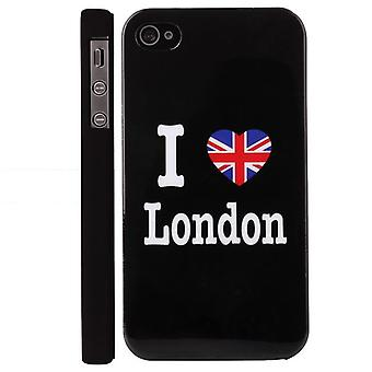 Il coperchio I Love London, in plastica dura, per iPhone 4/4s