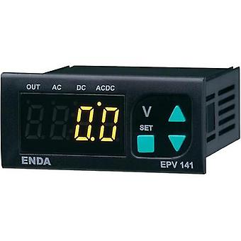 Enda EPV241-R-230 Programmable LED voltmeter EPV141-R ±500 V/AC/DC Assembly dimensions 70 x 29 mm