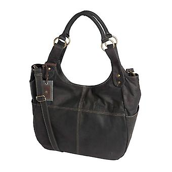 Dr Amsterdam Hand/shoulder bag Olive Black