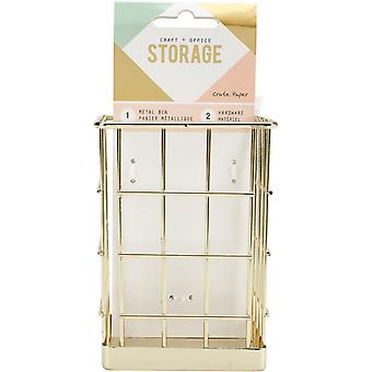 Wire System Metal Storage Bin-Small Gold CP375796