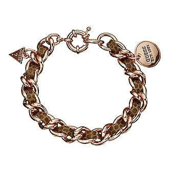 Guess ladies bracelet stainless steel of Rosé gold UBB21357
