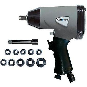 Pneumatic drill Tool holder: 1/2 (12.5 mm) male square Torque (max.): 345 Nm Aerotec 1/2 2009537 incl. accessories