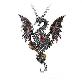 Alchemy Gothic Blast Furnace Behemoth Steampunk Dragon Necklace