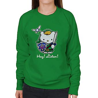 Hey lytte Link Hello Kitty Zelda kvinders Sweatshirt