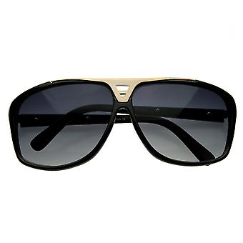 Designer Inspired Square Flat Top Aviator Sunglasses