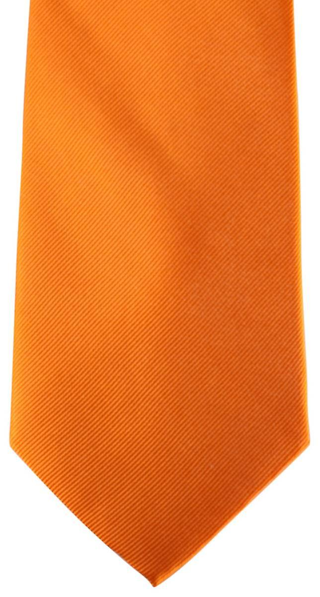 David Van Hagen Diagonal Ribbed Tie - Orange