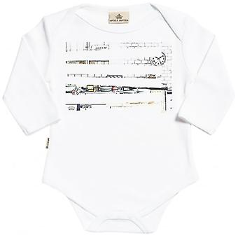 Spoilt Rotten Sketch Print Long Sleeve Organic Baby Grow