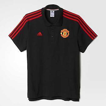 ADIDAS Manchester United klassieke 3S Polo [zwart]