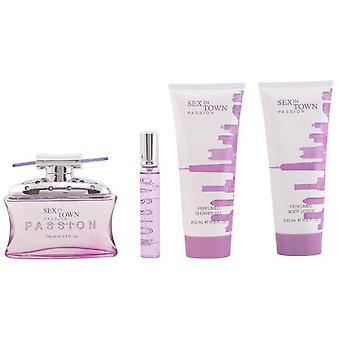 Vtrading Sex In Town Passion Eau De Perfume 100Ml Vapo. + Body Milk 200ml + Gel 200ml + Eau De Perfume 20Ml V