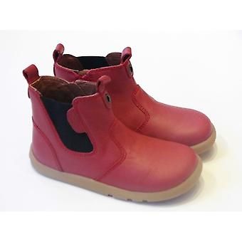Bobux Bobux Outback Boot | Red Leather Barefoot Chelsea Boots