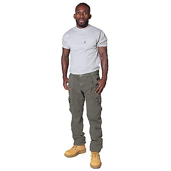 Men's Cargo Trousers with belt - Green Cargo pants fashion trousers Army Green