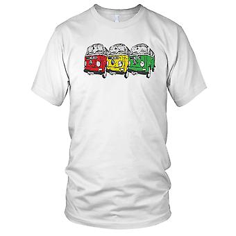 VW Camper Van Collage Pop Art Kids T-Shirt