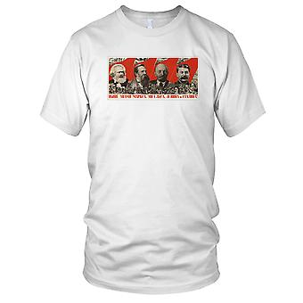 Komunizm - Lenin Stalin Marks Engels Koszula męska T