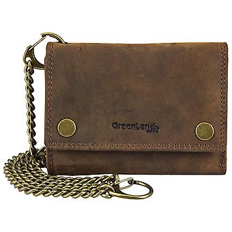 Green country Montenegro leather Biker chain wallet RFID protection 2969