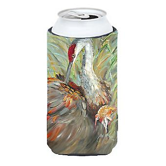 Sandhill Crane with baby Tall Boy Beverage Insulator Hugger