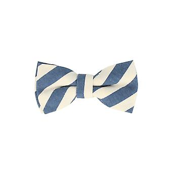 Andrews & co.-bound fly stars star Blau Weiss striped loop bow tie 10 cm x 5.5 cm