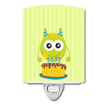 Carolines Treasures  BB9101CNL Birthday Monster Cake Ceramic Night Light