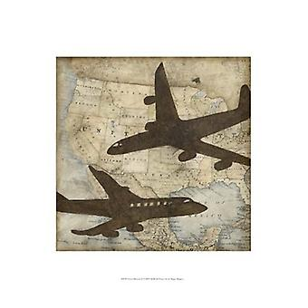 Travel Silhouette II Poster Print by Megan Meagher (13 x 19)