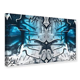 Pintura impresa en la pared de la lona