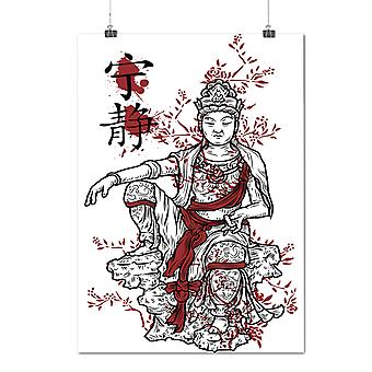 Matte or Glossy Poster with Japanese Queen Fantasy | Wellcoda | *d1282