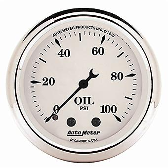 Auto Meter 1621 Old Tyme White Mechanical Oil Pressure Gauge