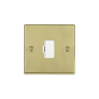 Hamilton Litestat Hartland Polished Brass 1g 13A Fuse Only WH/WH