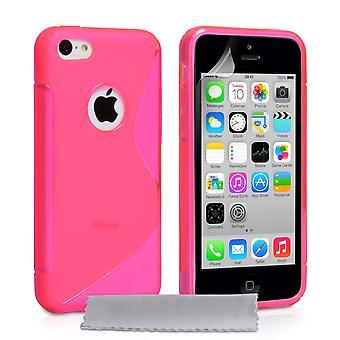 Caseflex Iphone 5c Gel S-Line Silikonhülle - Hot Pink
