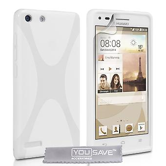 Yousave Accessories Huawei Ascend G6 Silicone Gel X-Line Case - White