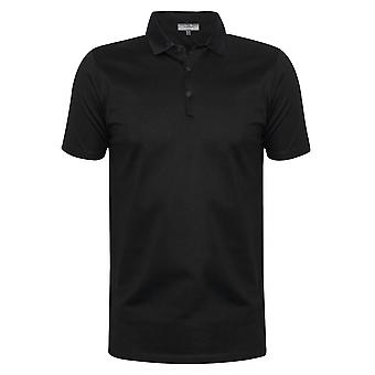 Lanvin Lanvin Black Grosgrain Slim Fit Piqué Polo Shirt
