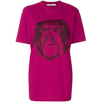Givenchy women's BW700D3037675 Fuchsia cotton T-Shirt