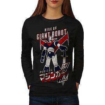 Rise Of Giant Robot Women BlackLong Sleeve T-shirt | Wellcoda