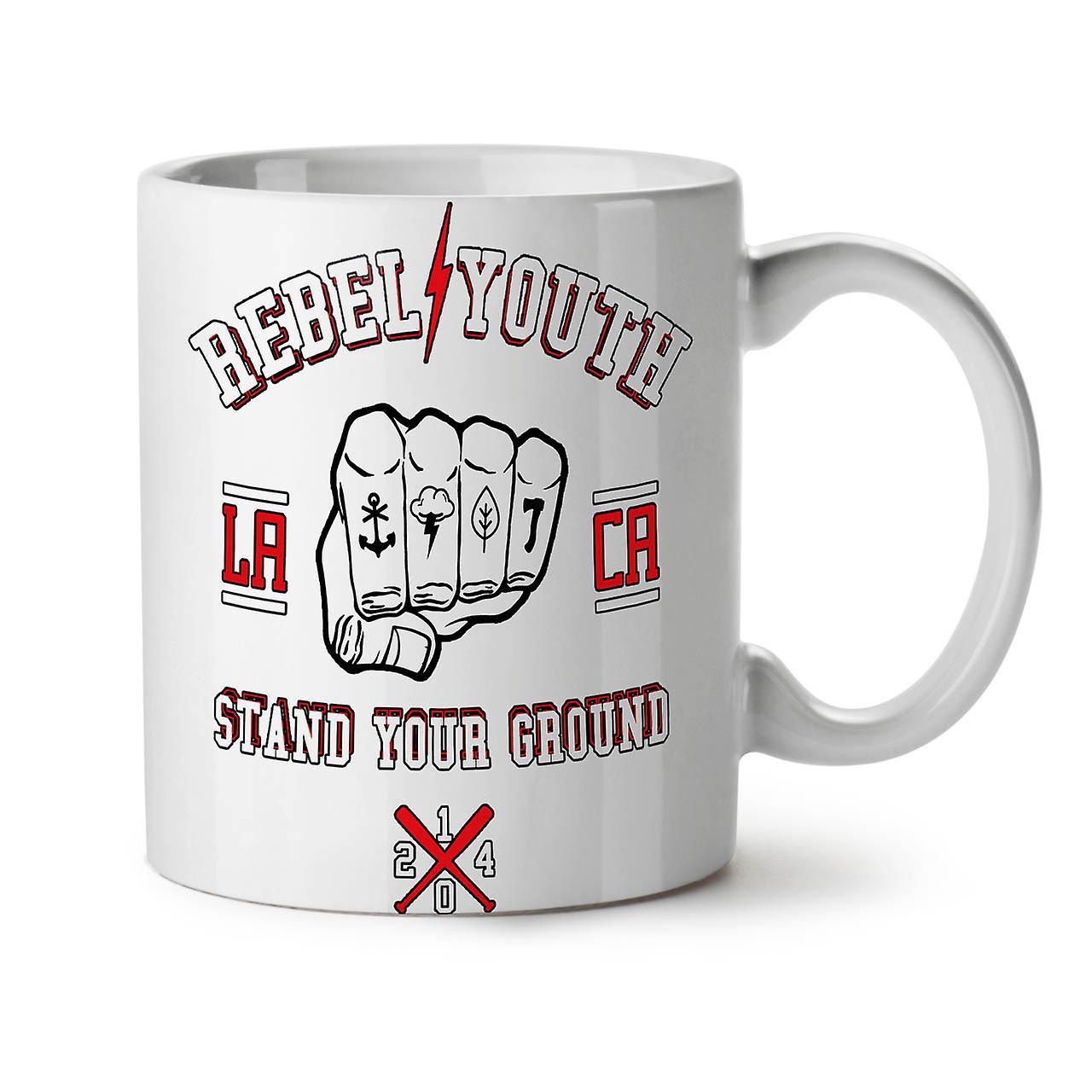 11 Tasse Jeunes Nouveau Céramique Rebelles Blanc Café OzWellcoda Poing Thé 5AL3q4cRjS