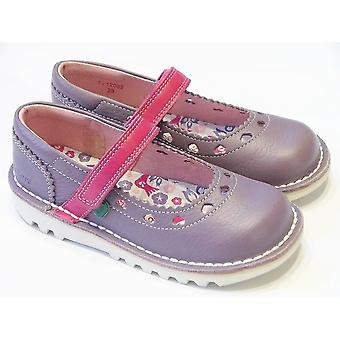 Kickers Kickers Heart Bar Girls Purple Durable Mary Jane Shoe