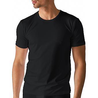Mey 46002-123 Men's Dry Cotton Black Solid Colour Short Sleeve Top