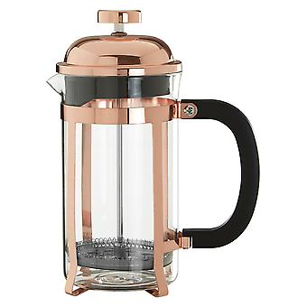 Premier Housewares Allera Rose gull Finish Cafetiere, 600ml