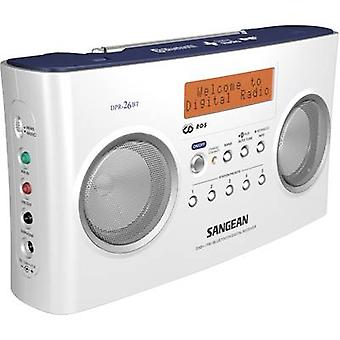 DAB+ Portable radio Sangean DPR-26 BT AUX, Bluetooth, DAB+, FM Battery charger White