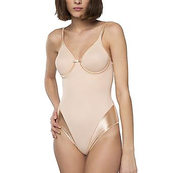 Maison Lejaby 5552-145 Women's New Nuage Pur Nude Underwired Bodysuit One Piece Body