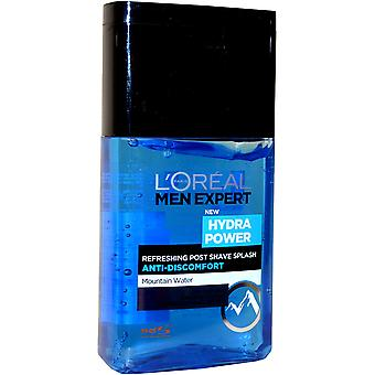 L'Oreal Men Expert Hydra Power Post Shave Splash 125ml Refreshing Anti Discomfort