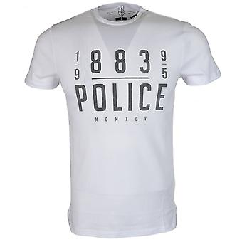 883 Police Gaz 18a Regular Fit Round Neck White T-shirt