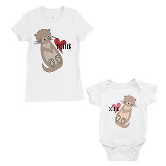 Motter Dotter mamma e bambino di corrispondenza regalo t-shirt White